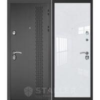 Входная металлическая дверь Юркас Сталлер Лика (Белый люкс)