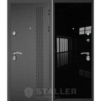 Входная металлическая дверь Юркас Сталлер Лика (Черный люкс)