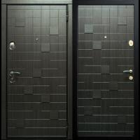 Входная металлическая дверь Юркас Сталлер Метро (Черно-серый)